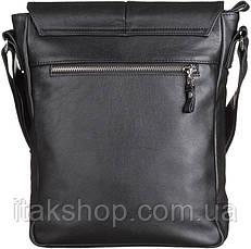 Мужская сумка Shvigel из натуральной кожи Черная, фото 2