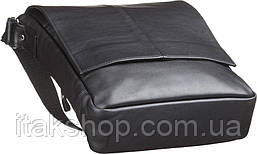 Мужская сумка Shvigel из натуральной кожи Черная, фото 3