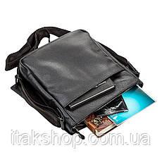 Стильная мужская сумка из натуральной кожи Швигель Черная, фото 3