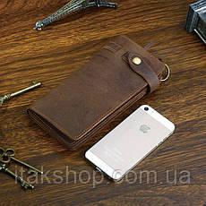 Мужской клатч Vintage 14383 из винтажной кожи Коричневый, Коричневый, фото 3