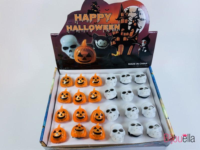 Кольцо светящиеся тыквы и черепа украшения и аксессуары для Хеллоуина 24 штуки в упаковке