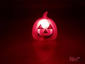 Кольцо светящиеся тыквы и черепа украшения и аксессуары для Хеллоуина 24 штуки в упаковке, фото 3