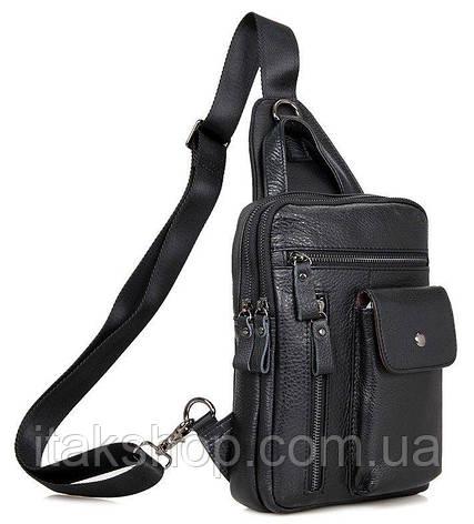 Сумка мужская Vintage 14407 Черная, Черный, фото 2