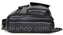 Сумка мужская Vintage 14407 Черная, Черный, фото 3