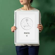 """Постер """"Зодиак: Рыбы"""" фольгированный А3, фото 2"""