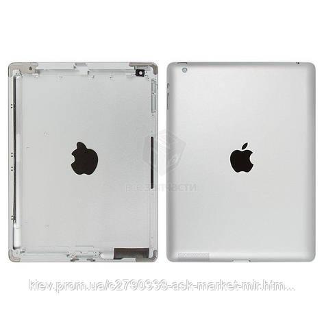 Задняя панель корпуса (крышка) для Apple iPad 3 (A1403, A1416, A1430) Wi-Fi Original Silver, фото 2
