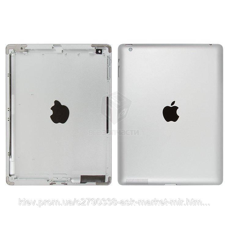Задняя панель корпуса (крышка) для Apple iPad 3 (A1403, A1416, A1430) Wi-Fi Original Silver
