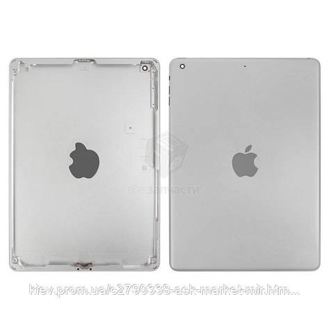 Задняя панель корпуса (крышка) для Apple iPad Air (A1474, A1475, A1476) Wi-Fi Original Silver, фото 2