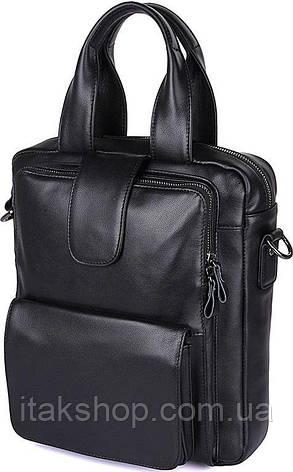 Сумка мужская Vintage 14479 Черная, Черный, фото 2