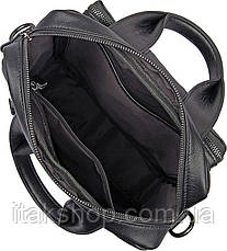 Сумка мужская Vintage 14479 Черная, Черный, фото 3