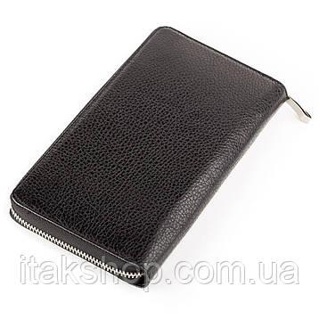 Барсетка кожаная BOND 17021 Черная, Черный, фото 2