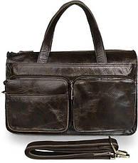Сумка Vintage 14526 из натуральной кожи Коричневая, Коричневый, фото 2