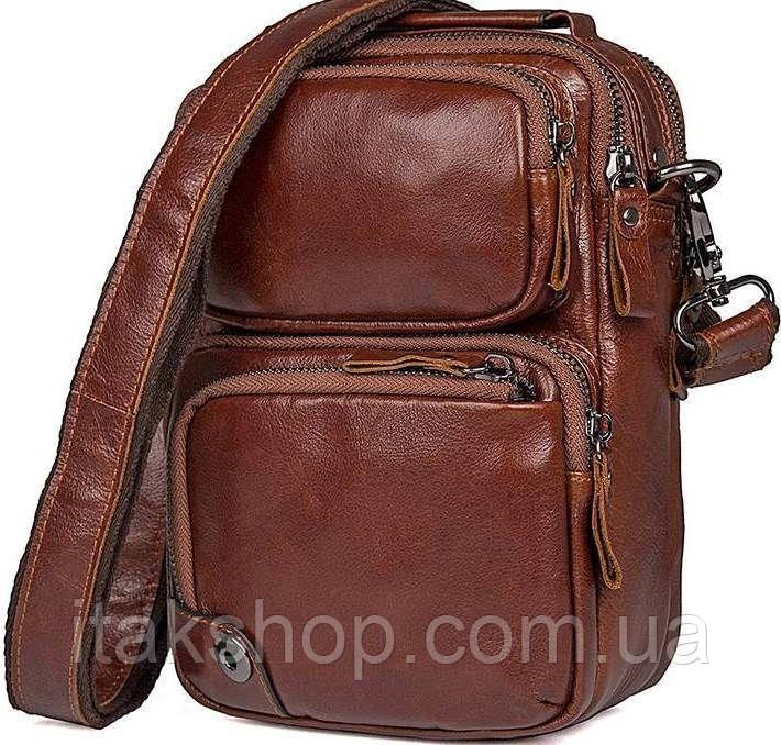 Сумка Vintage 14543 из натуральной кожи Коричневая, Коричневый