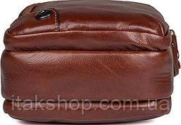 Сумка Vintage 14543 из натуральной кожи Коричневая, Коричневый, фото 2