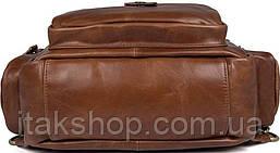 Сумка мужская Vintage 14561 из натуральной кожи Коричневая, Коричневый, фото 2