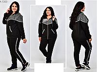 Женский костюм спортивный со вставками люрекса, с 52-68 размер, фото 1