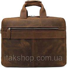 Сумка Vintage 14563 из натуральной винтажной кожи Коричневая, Коричневый, фото 2