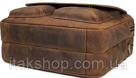 Сумка Vintage 14563 из натуральной винтажной кожи Коричневая, Коричневый, фото 3
