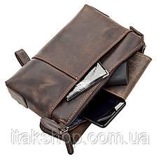 Мужской клатч SHVIGEL 11085 кожаный Коричневый, Коричневый, фото 2