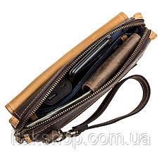 Мужской клатч SHVIGEL 11086 кожаный Коричневый, Коричневый, фото 3