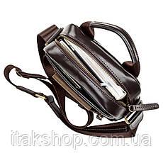 Сумка мужская кожаная Shvigel 11089 (Коричневая) + подарок Ключница из натуральной кожи Shvigel (Черная), фото 2