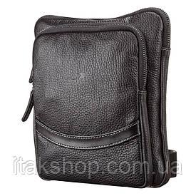 Мужская кожаная сумка планшет Shvigel 11090 Черная