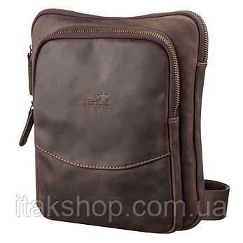 Мужская кожаная сумка-планшет Shvigel 11091 Коричневая, фото 2
