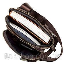 Мужская кожаная сумка-планшет Shvigel 11091 Коричневая, фото 3