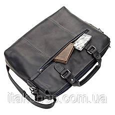 Кожаная сумка для ноутбука Shvigel Черная, фото 3