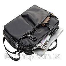 Сумка мужская SHVIGEL 11117 кожаная Черная, Черный, фото 3