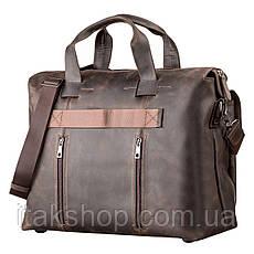 Большая мужская сумка SHVIGEL 11119 кожаная Коричневая, Коричневый, фото 2
