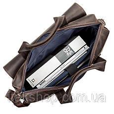 Большая мужская сумка SHVIGEL 11119 кожаная Коричневая, Коричневый, фото 3