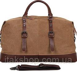 Сумка дорожная Vintage 14580 Коричневая, Коричневый, фото 2