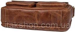 Сумка мужская Vintage 14583 кожаная Рыжая, Рыжий, фото 3