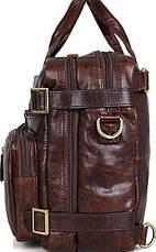 Сумка мужская Vintage 14590 кожаная Коричневая, Коричневый, фото 2