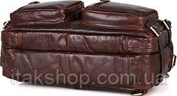 Сумка мужская Vintage 14590 кожаная Коричневая, Коричневый, фото 3