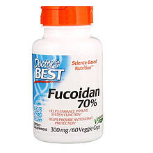 "Фукоидан Doctor's Best ""Best Fucoidan 70%"" экстракт из бурых водорослей (60 капсул)"