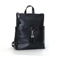 Женская черная кожаная сумка-рюкзак, цвета в ассортименте
