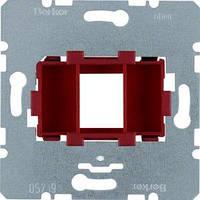 ЦП Berker, AMP, 1 мод., красная вставка (454001)
