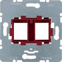 ЦП Berker, AMP, 2 мод., красная вставка (454101)