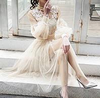 Вечернее платье - Платье на выпускной с кружевами
