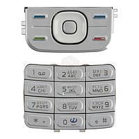 Клавиатура для Nokia 5200, 5300 Original Silver С русскими буквами