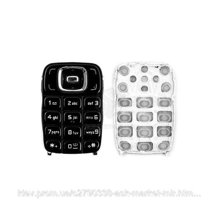 Клавіатура для Nokia 6131 Original Black З англійськими літерами