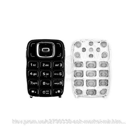Клавіатура для Nokia 6131 Original Black З англійськими літерами, фото 2