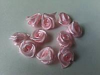 Розочки атласные розовые