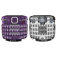 Клавиатура для Nokia C3-00 Original Violet С английскими буквами
