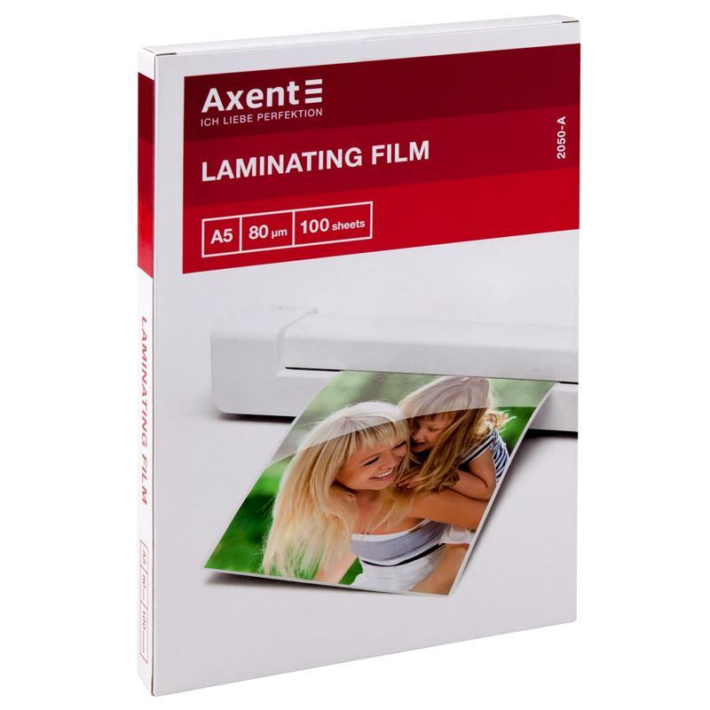 Плёнка для ламинирования Axent 80 мкм A5 216 x 303 мм 100 шт глянцевая