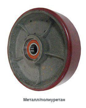 Колесо для гидравлических тележек и штабелеров (металл/полиуретан)