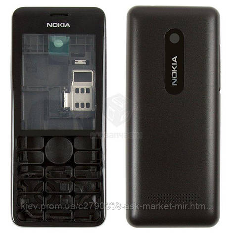Корпус для Nokia Asha 206 Original Black, фото 2
