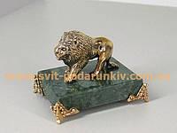 Оригинальный подарок бронзовая статуэтка Лев